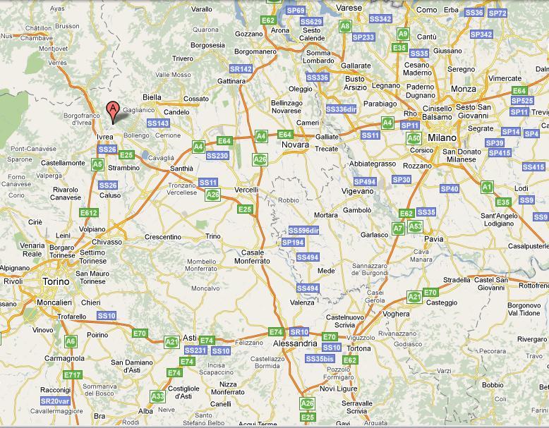Piemonte E Lombardia Cartina.Come Arrivare